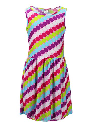 (S.W.A.K. Girls Polka dot Sundress Size 5/6- Pink)