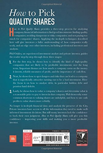 How to pick quality shares a three step process for selecting how to pick quality shares a three step process for selecting profitable stocks amazon phil oakley 9780857195340 books fandeluxe Images