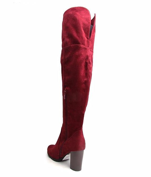 MAYLINE , Damen Mokassins 35.5, rot - rot - Größe: 37
