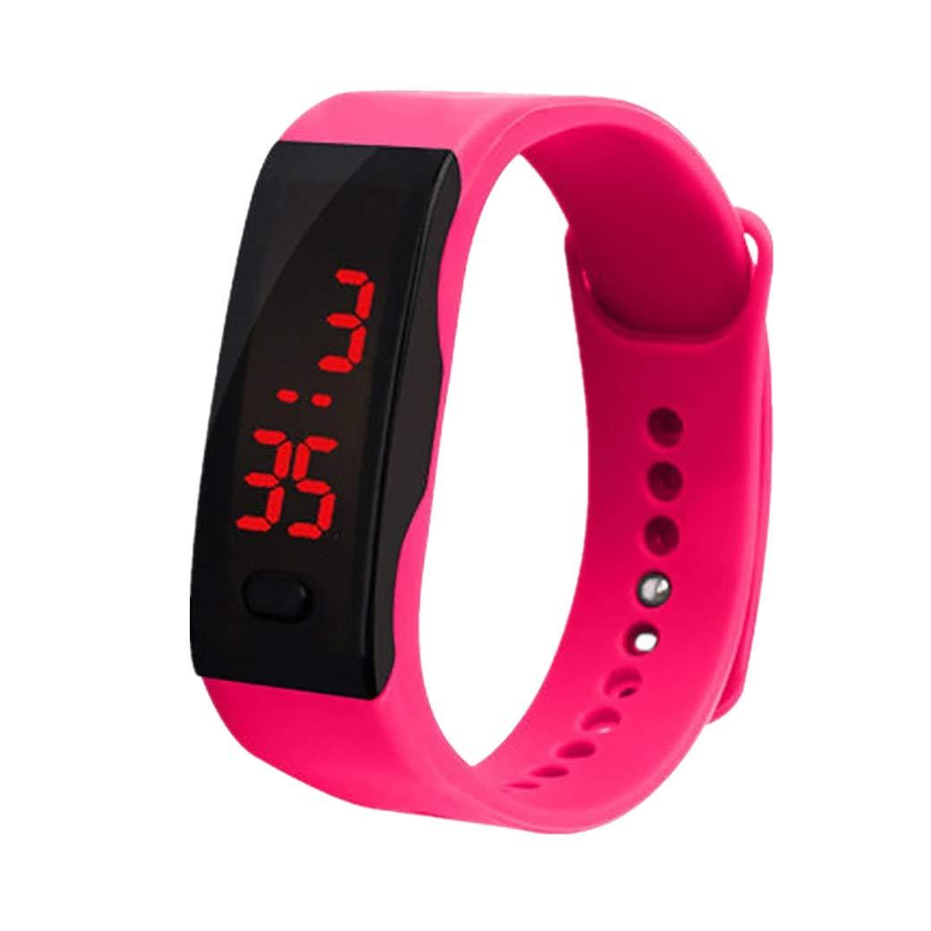 BIBOKAOKE Reloj Pulsera con Digital Pantalla LED Smartwatch Suave ...