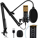 2021 Upgraded USB Condenser Microphone for