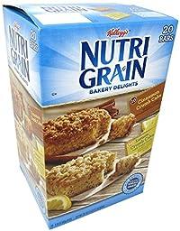 Nutrigrain Bakery Delights 20ct Box with 10 Lemon Crumb and 10 Cinnamon Crumb