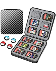 HEYSTOP Game Card Case Compatible with Nintendo Switch Cartridges Holder Carrying Storage Case Box, Portable Thin Hard Shell Box with 12 Cartridge Slots for 12 Micro SD/SDHC/TF Card, Black