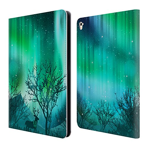 Head Case Designs Green Forest Grove Northern Lights Leather