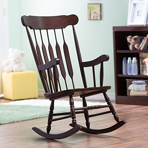 Belham Living Wood Nursery Rocker - Espresso