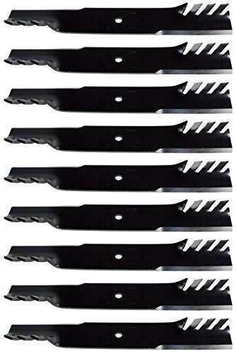 (9) USA Mower Blades Mulching for Bad Boy 038-6050-00, 038-6002-00, 60'' Deck by USA Mower Blades
