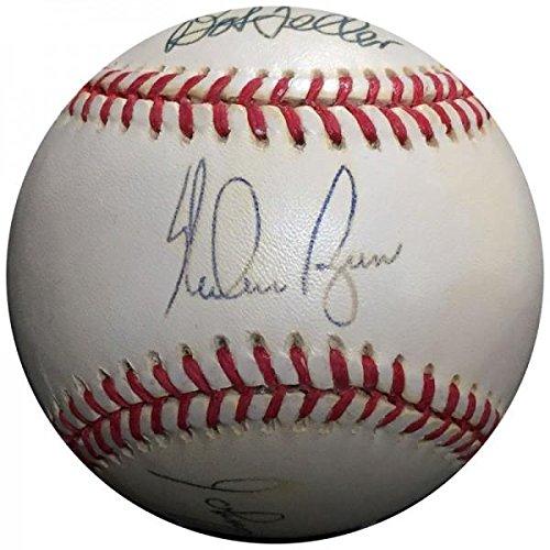 Ryan Nolan Ball (Jim Catfish Hunter Signed Ball - Nolan Ryan Bob Feller Gaylord Perry Don Larsen Johnny Vander Meer PSA))