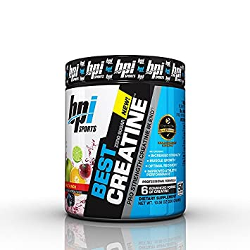 BPI Best Creatine to Increase Energy, Strength, and Muscle Mass, 50 Servings 2-Pack Fruit Punch