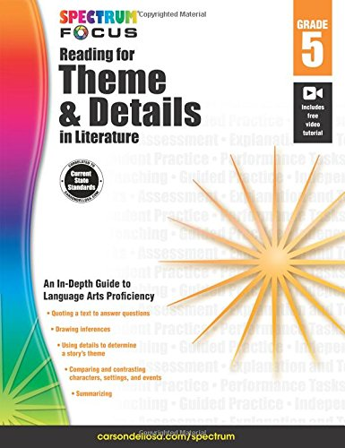 Spectrum Reading For Theme And Details In Literature, Grade 5 (Spectrum Focus)