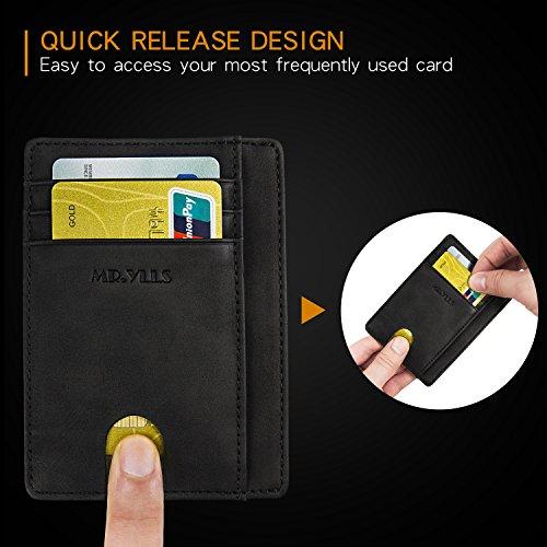 Slim Minimalist Front Pocket RFID Blocking Leather Wallets for Men/&Women