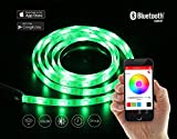 PLAYBULB Comet 12W / 24V / 2M (6.6ft) / 120 LEDs Flexible LED Light Strip Kit, RGB Color Changing Xmas Strip Lights for Home / Office / Indoor Use