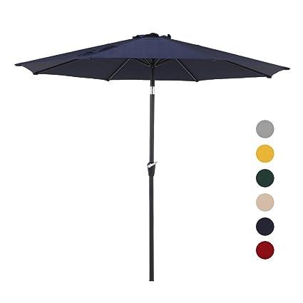 Merveilleux Grand Patio 9.7 FT Aluminum Patio Umbrella, 8 Ribs Powder Coated Outdoor  Market Umbrella,