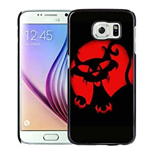 Crazy Cat Pumpkin Carving Halloween Black Samsung Galaxy S6 Phone Case Unique and Luxury Design BY MX70
