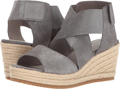 Eileen Fisher Womens Willow 3 Pewter Metallic Suede 7.5 B (m) Ons