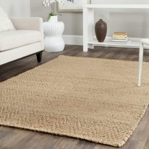 Safavieh Natural Fiber Collection NF731A Hand Woven Natural Jute Area Rug 8' x 10'