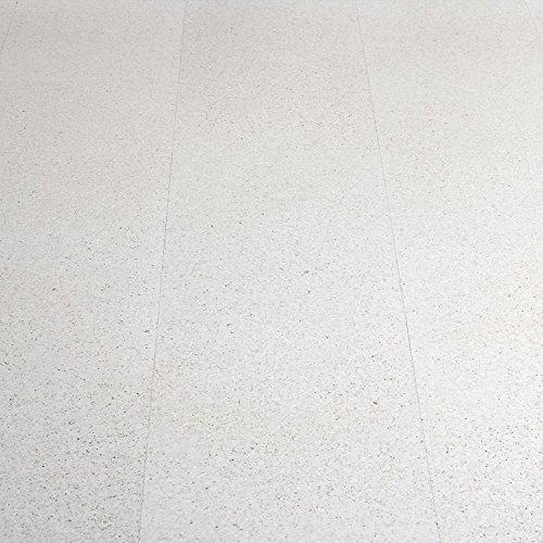CORCASA Korkboden Design strukturiert wei/ß lackiert Klicksystem warmer Kork Bodenbelag Klick Tanami