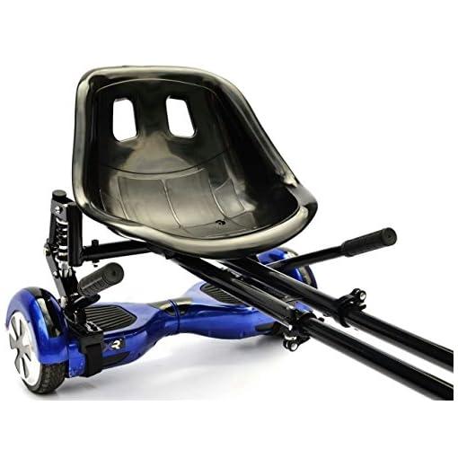 Hoverkart et Hoverseat – Châssis et siège pour planche Hoverboard 6,5/8/10 » avec suspension Kit de Siège pour Skateboard Électrique Mixte Enfant