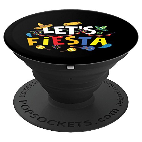 Let's Fiesta Art | Cool Mexican Party Decoration Art Gift - PopSockets Grip and Stand for Phones and Tablets