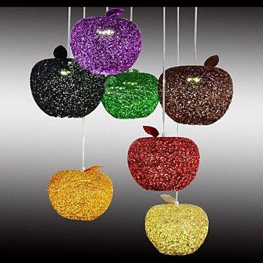 CC Gewebte Aluminium Kronleuchter mit sieben Kopfleuchte Apple Restaurant , Warmweiß-220-240v