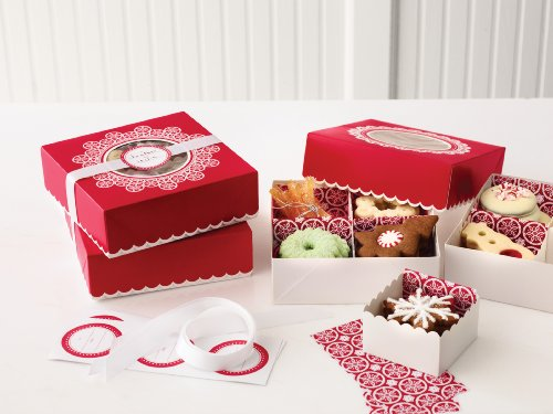 Martha Stewart Crafts Snow Lace Compartment Treat Box