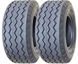 Set of 2 New ZEEMAX Heavy Duty 11L-16 Backhoe Implement Tires 12PR - 11069