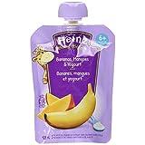 HEINZ Strained  Banana, Mango & Yogourt Pouch, 6 Pack, 128ML Each