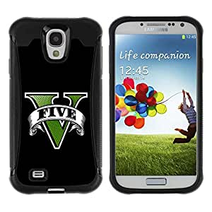 Planetar® ( Five Game ) Samsung Galaxy S4 IV (I9500 / I9505 / I9505G) / SGH-i337 Hybrid Heavy Duty Shockproof TPU Fundas Cover Cubre Case