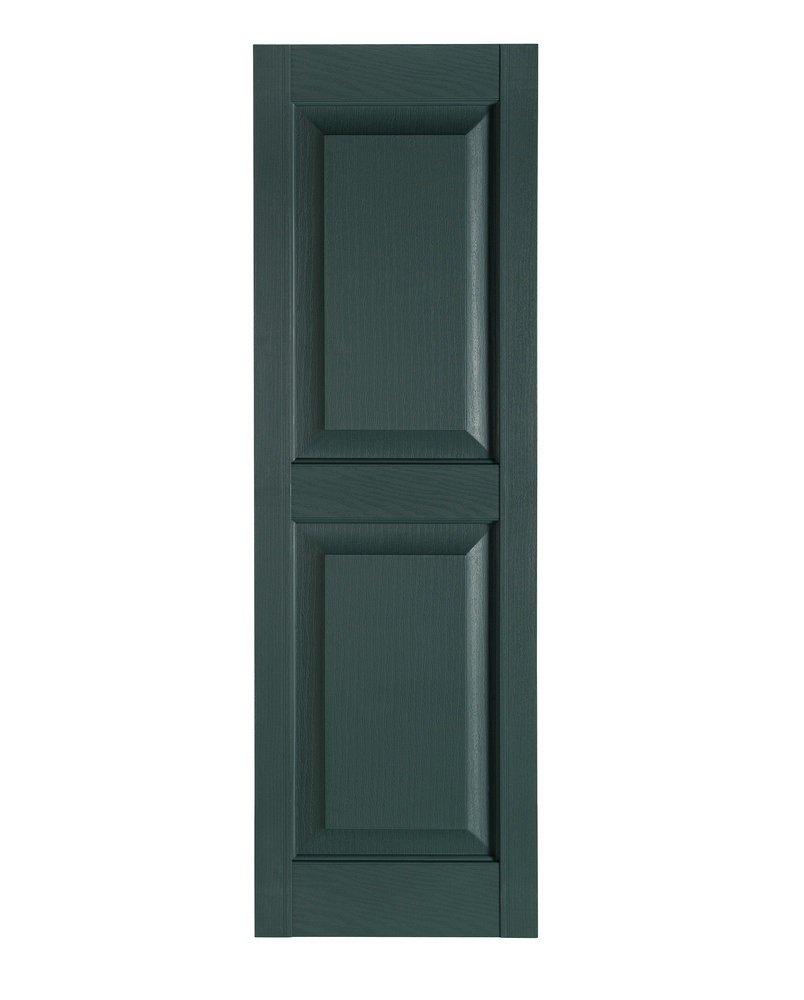 Perfect Shutters Premier Raised Panel Exterior Decorative Shutter, 15'' x 67'', Heritage Green