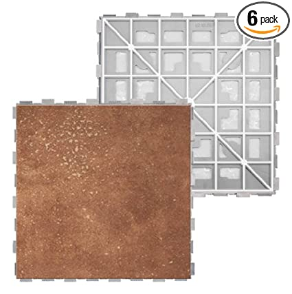 Amazon Ziptile Baton Rouge 12 Inch By 12 Inch Interlocking Tile