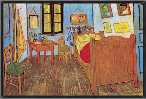 Framed Print by Vincent Van Gogh, La Chambre de Van Gogh a Arles, 37.5 in X 25.5 in.