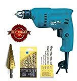 Toolscentre 10mm Heavy Duty Makita Drill Machine Combo With 13Pcs Hss Bits