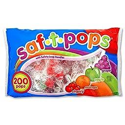 Saf-T-Pops Lollipops, 76 oz, 200-Count