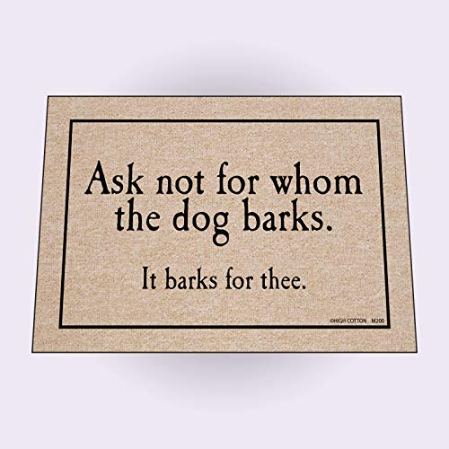 HIGH COTTON Doormat - For Whom The Dog - Mat High Door Cotton