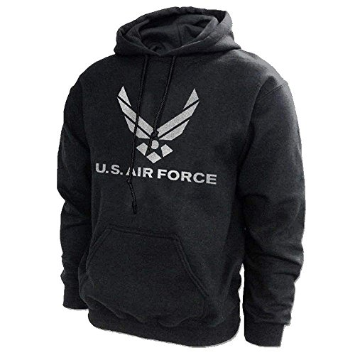 US Air Force USAF Reflective Design Hooded Sweatshirt - Officially Licensed by the USAF