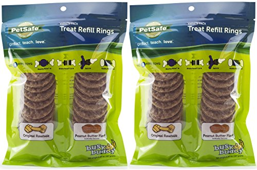 Variety Pack Treat Refill Rings, Original and Peanut Butter Flavor, Size B ()
