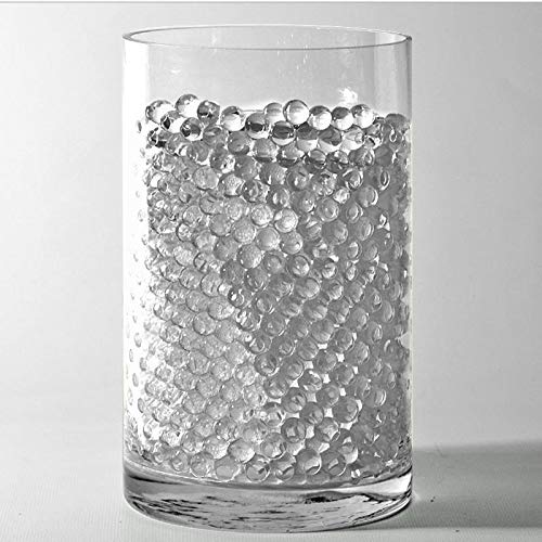 Tableclothsfactory 14g Big Round Deco Water Beads Jelly Vase Filler Balls for Centerpieces Table Decoration - Clear - Small Jelly Filler Balls