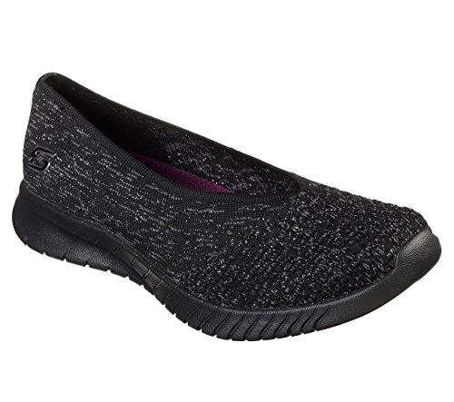 Skechers Wave Lite Slip On Women's Shoes, Black/Black, 8 US by Skechers