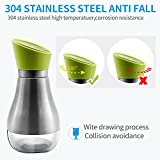 KELLM 304 Stainless Steel Olive Oil Dispenser-All Made of Food Grade Material Oil Bottle,Cruet For Soy sauce,Vinegar And More ¡ (Green)