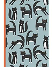 Notes: A Blank Japanese Kanji Practice Paper Notebook with Black and White Tuxedo Cat Cover Art