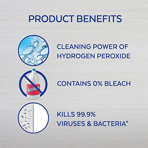 Lysol Bleach Free Hydrogen Peroxide Toilet Bowl Cleaner, Fresh, 24 oz (Pack of 4)