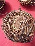 3 Bird Nesting Balls, Grapevine 4 in. balls filled with Alpaca Fiber (Luxury nest building)