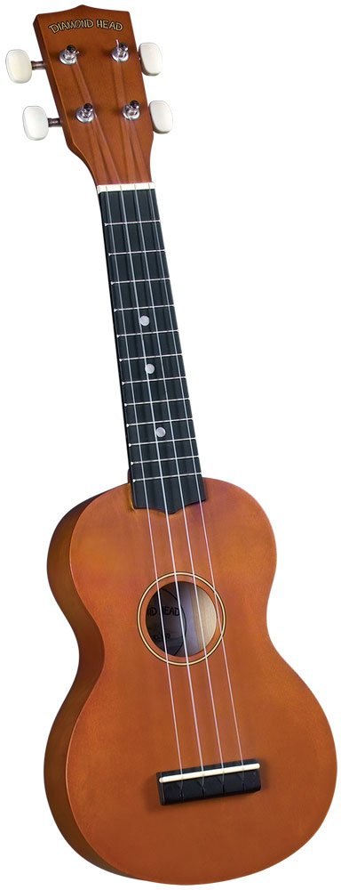 Diamond Head DU-150 Soprano Ukulele - Mahogany Brown by Diamond Head