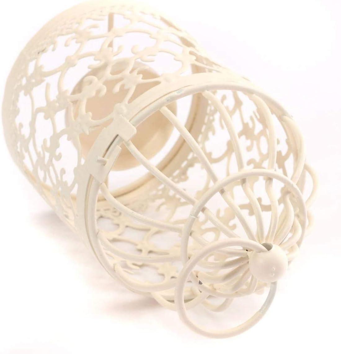D/écoration de table de mariage SHOWLOUE Lot de 6 lanternes /à suspendre en forme de cage /à oiseaux D/écoration vintage