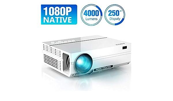 ABOX Proyector de lúmenes portátil de video Full HD 1080p para ...