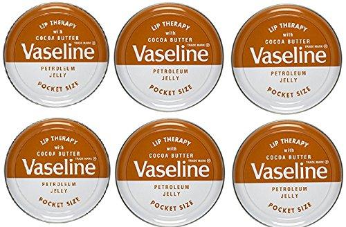 Vaseline Lip Balm 20g/0.705oz (6X20g/0.705oz, Cocoa Butter)