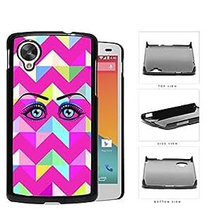 Eye With Magenta Chevron Design Hard Plastic Snap On Cell Phone Case LG Nexus 5