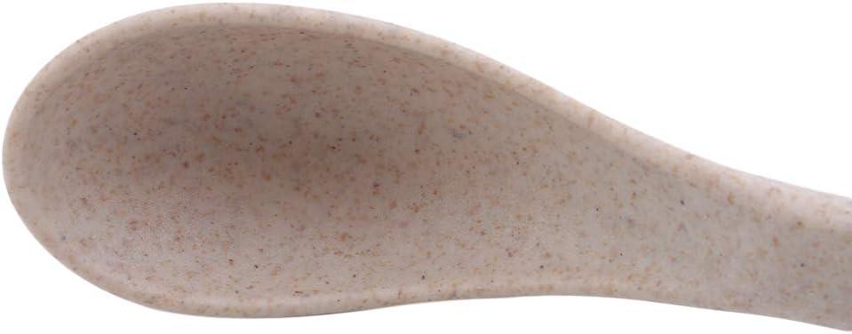 bleu SUNSKYOO Cuill/ère Pailles De Bl/é Manche Court Cr/ème Glac/ée Soupe Sucre Accessoires De Cuisine Vaisselle Cuill/ères /À Caf/é