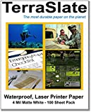 TerraSlate Paper 4 MIL 8.5'' x 11'' Waterproof Laser Printer/Copy Paper 100 Sheets