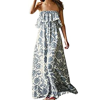 Vestido de Verano Largo Maxi Falda Mujer Casual Elegante