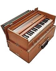 432 Hz Harmonium Bhajan Kirtan Yoga BINA 23B składane safari 3 1/4 ośmiokątne 6 stopów klasyczny kolor drewna, łącznik, nylonowa torba, indiański instrument muzyczny, Kirtan 440 Hz